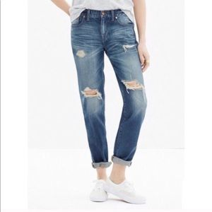 Madewell distressed Boyjean
